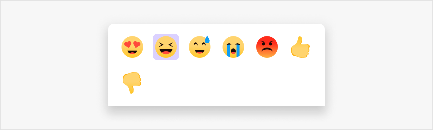 Image|Change on view when two emojis are selected.
