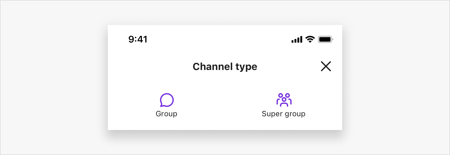 Image|SBUCreateChannelViewController showing how to create a new group channel in view