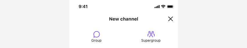 SBUCreateChannelViewController showing how to create a new group channel in view