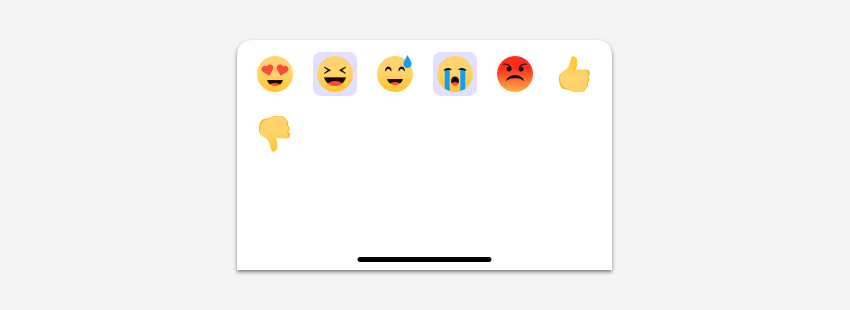 Change on view when two emojis are selected.